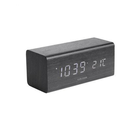 Karlsson 5652BK Designové LED stolní hodiny s budíkem