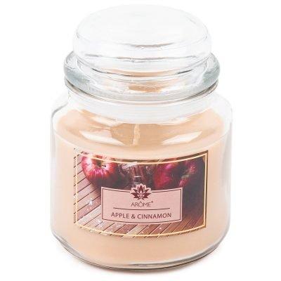 Arome Velká vonná svíčka ve skle Apple and Cinnamon