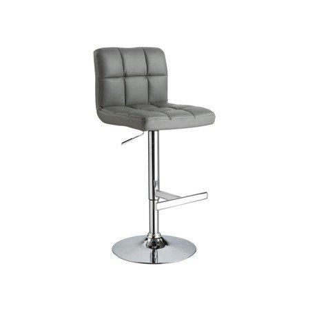 Barová židle C105 šedá eko-kůže