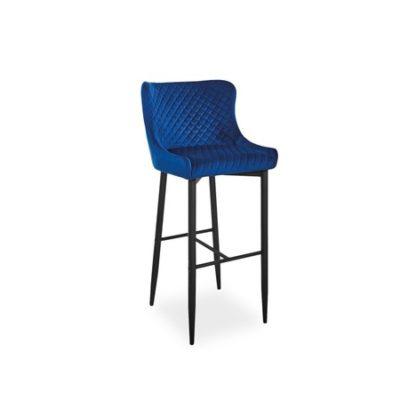 Barová židle COLIN B H-1 černá/modrá