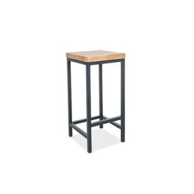 Barová židle METRO H-1 dub/černá