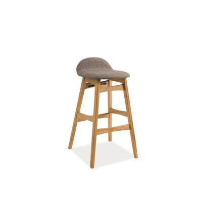 Barová židle TRENTO dub/šedá