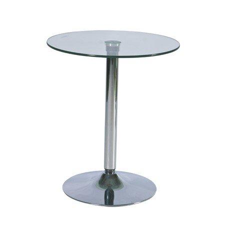 Barový stolek B100 sklo/chrom