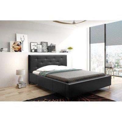 Čalouněná postel AGNES černá rozměr 140x200 cm