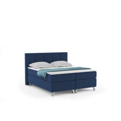 Čalouněná postel ATLANTIC včetně úložného prostoru 140x200 Modrá