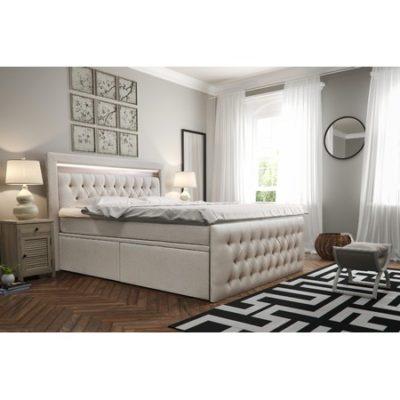 Čalouněná postel CESAR včetně úložného prostoru 140x200 Béžová