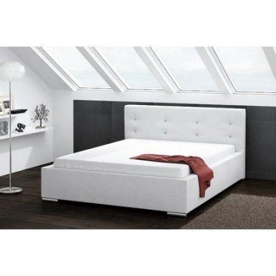 Čalouněná postel DAKOTA bílá rozměr 160x200 cm