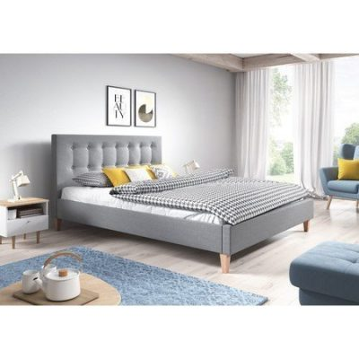 Čalouněná postel DAVID šedá rozměr 140x200 cm