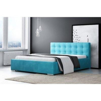 Čalouněná postel DIANA modrá rozměr 160x200 cm