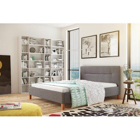 Čalouněná postel KAROLINA šedá rozměr 140x200 cm