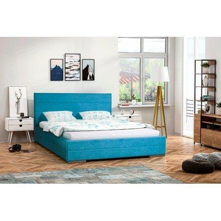 Čalouněná postel MONIKA modrá rozměr 140x200 cm