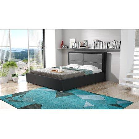 Čalouněná postel SIMONA černá rozměr 140x200 cm