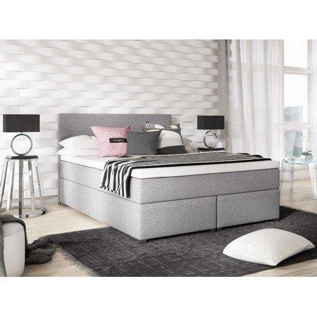 Čalouněná postel VIERA 140x200 Tmavě Šedá