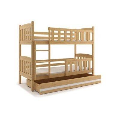 Dětská patrová postel KUBUS 190x80 cm Borovice