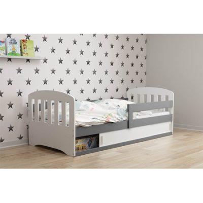 Dětská postel CLASSIC 1 160x80 cm Bílá Borovice