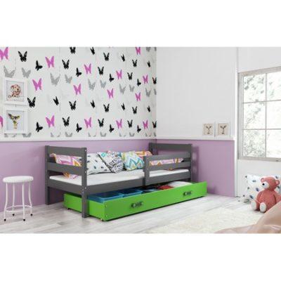 Dětská postel ERYK 190x80 cm Zelená Šedá