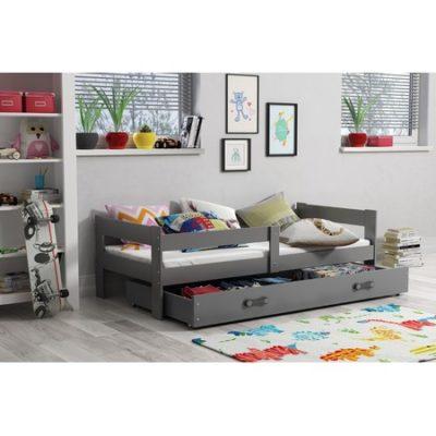 Dětská postel HUGO 160x80 cm šedá