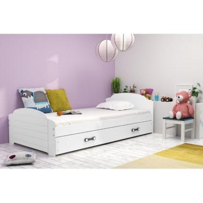 Dětská postel LILI bílá 200x90 cm Zelená