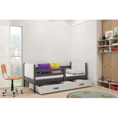 Dětská postel TAMI 190x80 Bílá Borovice