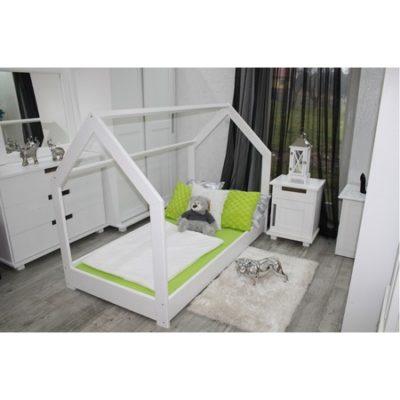 Dětská postel domeček 80x160 cm bílá