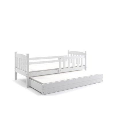 Dětská postel s výsuvnou postelí KUBUS 190x80 cm Bílá