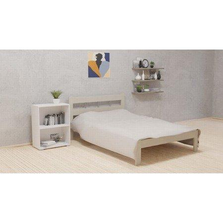 Dřevěná postel SARA 140x200 cm bílá