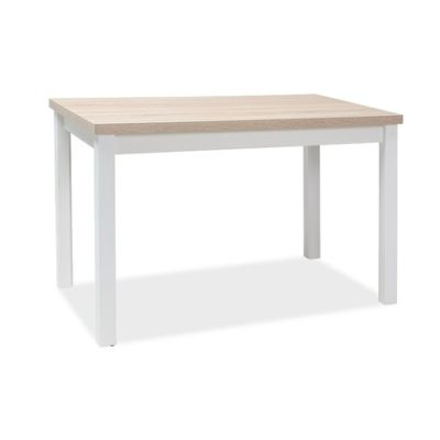 Jídelní stůl ADAM dub sonoma/bílá