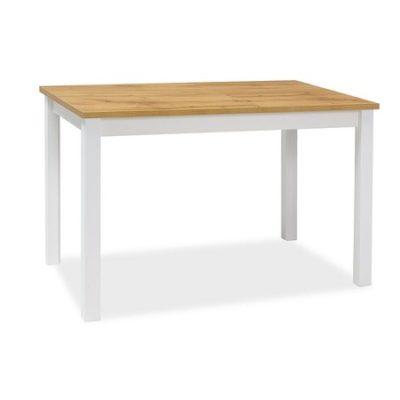 Jídelní stůl ADAM dub wotan/bílá