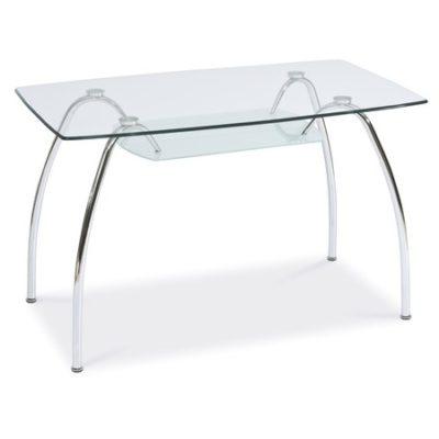 Jídelní stůl ARACHNE I sklo/chrom