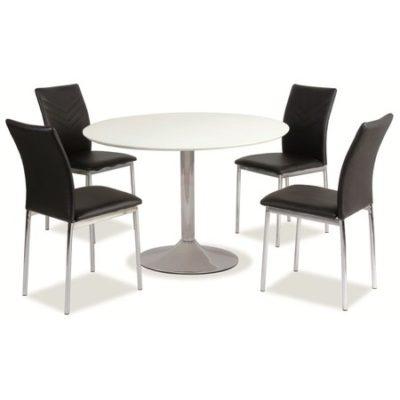 Jídelní stůl FLAVIO bílý lesk