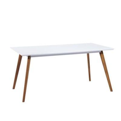 Jídelní stůl MILAN 140x80 bílá/dub