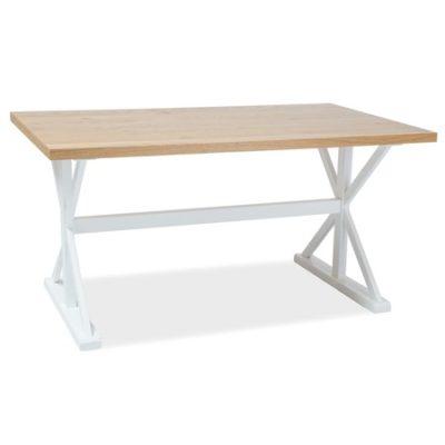 Jídelní stůl OXFORD dub/bílá 150x90