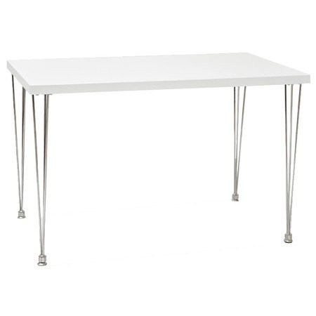 Jídelní stůl PAULO bílý lesk/chrom