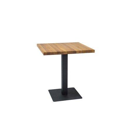 Jídelní stůl PURO dub/černá 80x80