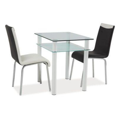 Jídelní stůl SONO 80x60x75 sklo/bílá