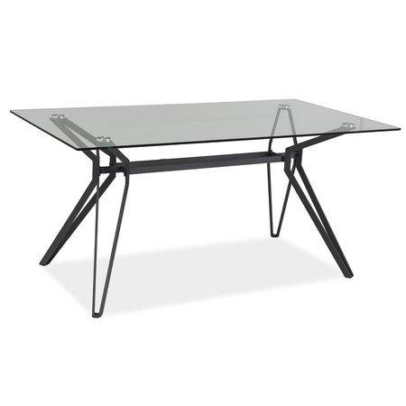 Jídelní stůl TIVOLI sklo/šedá