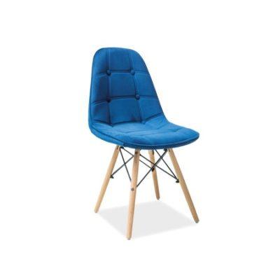 Jídelní židle AXEL III buk/modrá