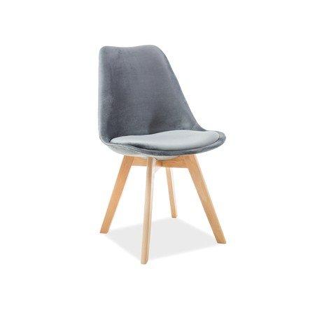 Jídelní židle DIOR buk/šedá