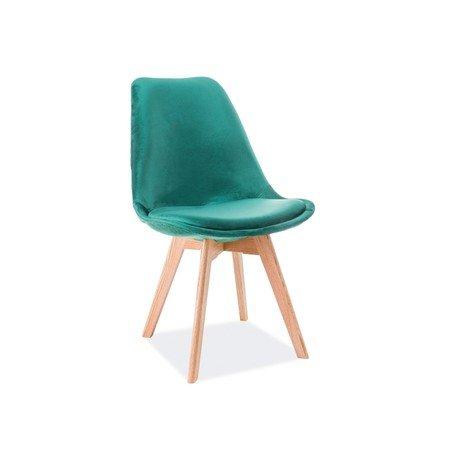 Jídelní židle DIOR dub/zelená