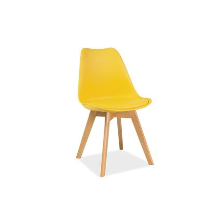 Jídelní židle KRIS buk/žlutá