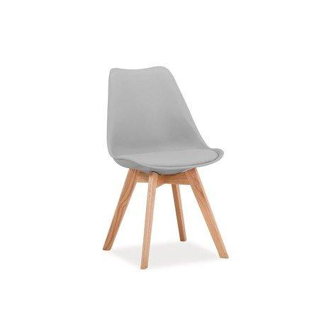 Jídelní židle KRIS dub/světle šedá