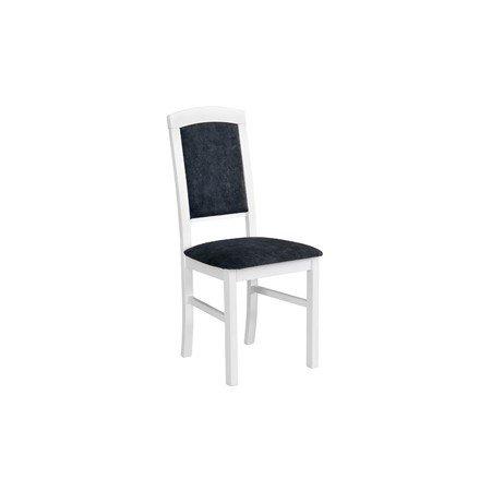 Jídelní židle NILO 4 Bílá Tkanina 10