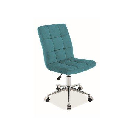 Kancelářská židle Q-020 tyrkysová