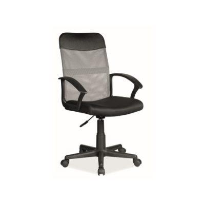 Kancelářská židle Q-702 šedá/černá