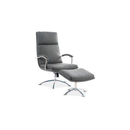 Kancelářská židle s podnožkou JEFFERSON šedá