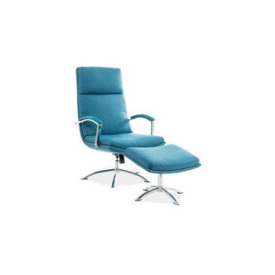 Kancelářská židle s podnožkou JEFFERSON tyrkysová