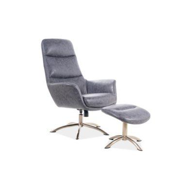 Kancelářská židle s podnožkou NIXON šedá