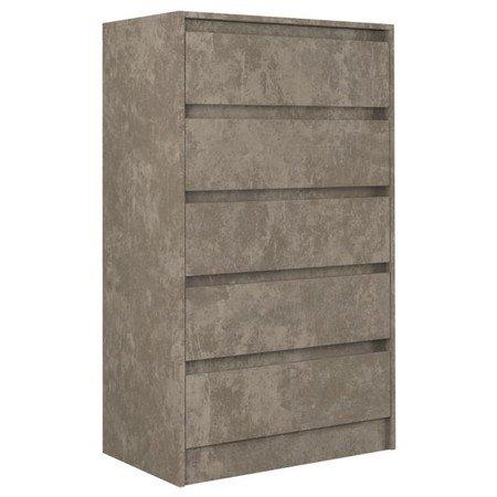 Komoda 5 šuplíků Karo K5 beton