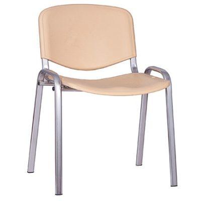 Konferenční plastová židle ISO CHROM Béžová