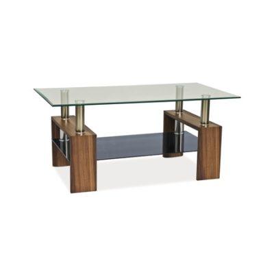 Konferenční stolek LISA II sklo/ořech